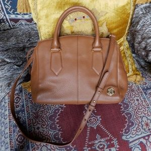 Vince Camuto leather brown satchel